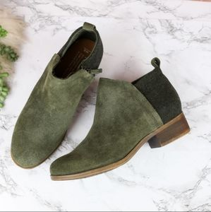TOMS Deia Forest Green Ankle Boots